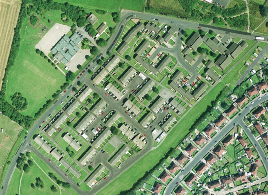 Figure 3: Radburn-type estate: Billingley View, west Bolton-upon-Dearne