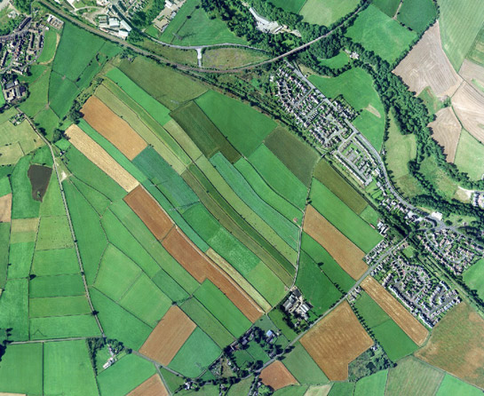 Roughbirchworth enclosed strip fields showing a characteristic reverse s shape.