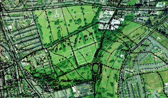 Figure 1: Barnsley cemetery - established on part of the 18th century surveyed enclosure of Pinder Oaks Common and on part of the common enclosed by the 1779 Barnsley Parliamentary Award.