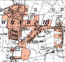 Figure 3b: 'Ryecroft and Sandhill, Rawmarsh' character area in 1905