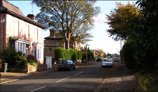 Figure 1: A typical street-scape in the 'Clifton Villa Suburb' character area