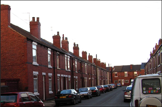 Figure 1: Terraced housing on Gladys Street, in the 'Clifton Park Terraces' character area.