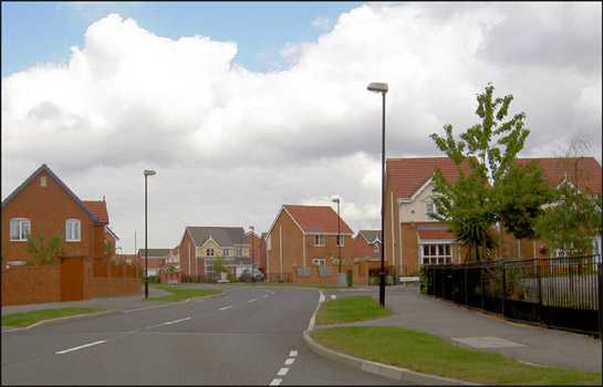 Figure 1: Modern private housing in Brampton built on a site formerly occupied by tipping from Cortonwood Colliery
