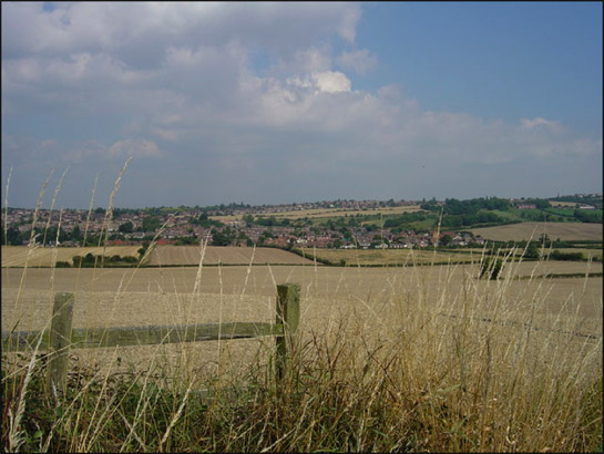 Figure 1: This This view across Whiston captures the large areas of arable land with few boundaries typical of this zone.