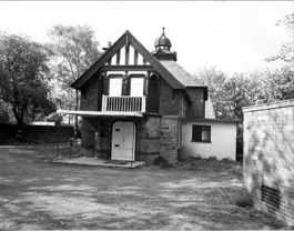 Figure 2: The tiny Lantern Theatre, built by cutlery manufacturer William Webster in the grounds of his house on Kenwood Park Road (©SCC UDC)