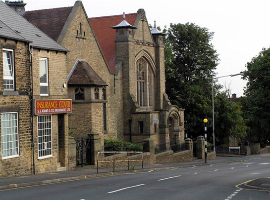 Text Box: Figure 2: Former St Luke's Methodist church, Crookes Road