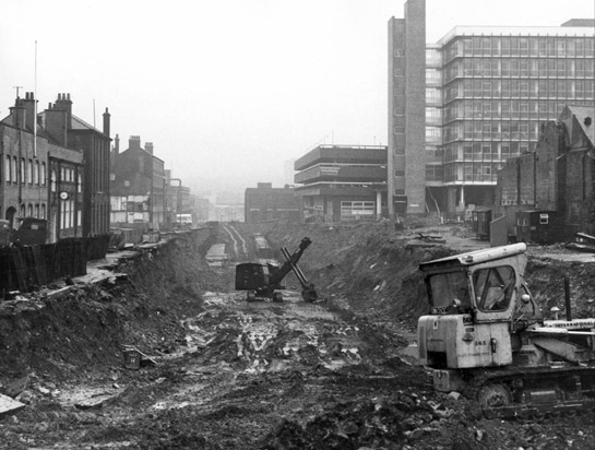 Figure 6: Construction work on Arundel Gate 1967 © SCC