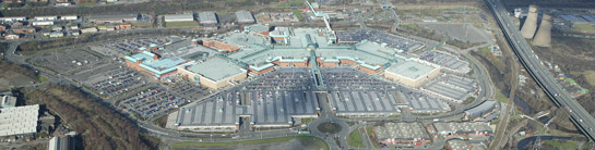 Aerial photograph of Meadowhall Shopping Centre